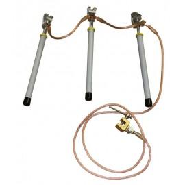 ARCUS 597 570 Trifazis įžemiklis įrenginiams su 3 lazdomis ( iki 1 kV)