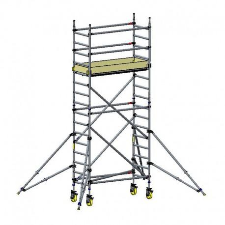 CUSTERS 4,3x0,7x1,8 m aliuminis bokštinis pastolis